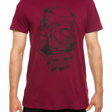 T-Shirt | Seemann | men | burgundrot