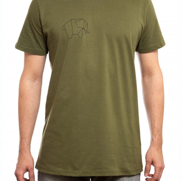 T-Shirt | Elephant klein | men | olivgrün