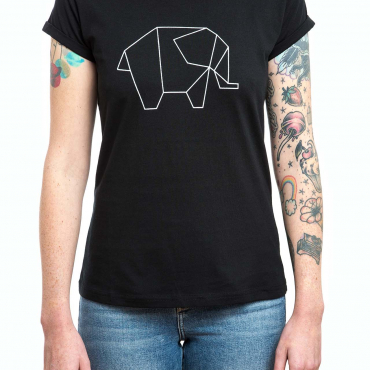 T-Shirt | Elefant | women | schwarz
