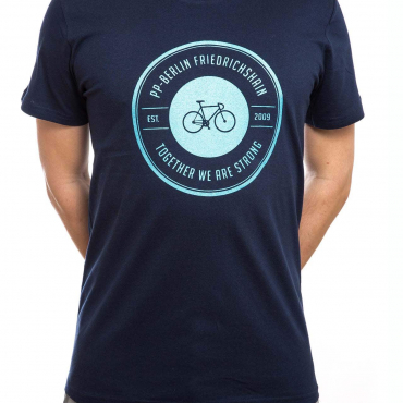T-Shirt | strong bike | men | navy blau
