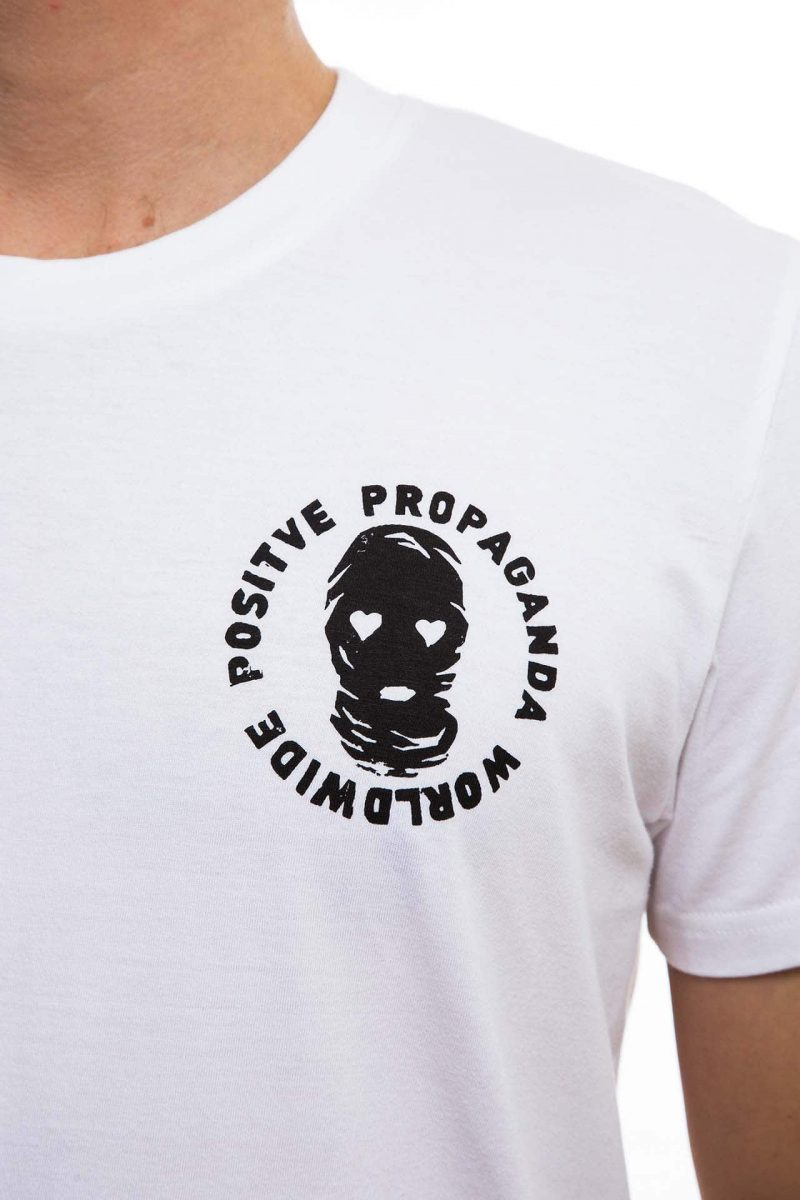 T-Shirt | love&hate positive propaganda | men | weiß