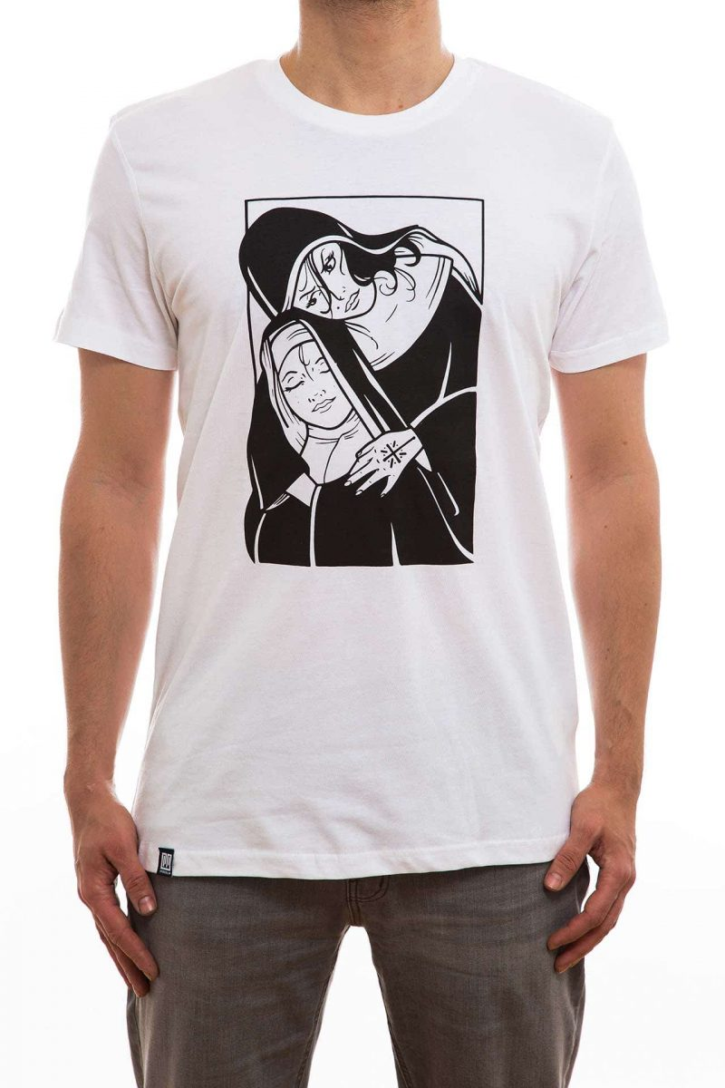 T-Shirt | nonne | men | weiß