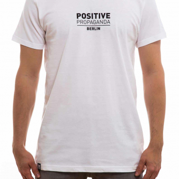 T-Shirt | positive propaganda typo | men | weiß
