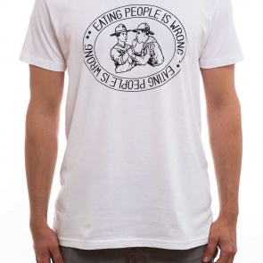 T-Shirt | DWA | eating people is wrong | men | weiß