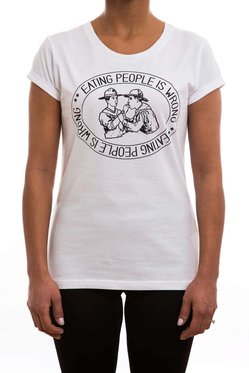 T-Shirt   DWA   eating people is wrong   women   weiß