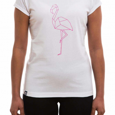T-Shirt | Flamingo | women | weiß